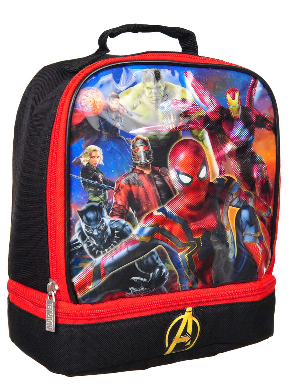 4SGM Marvel Avengers Captain America Superheroes Dual Insulated Lunch Box Lunchbox 10671