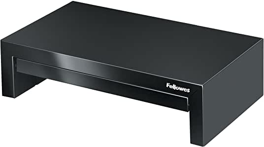 Fellowes 8038101 Designer Suites Monitor Riser, Black