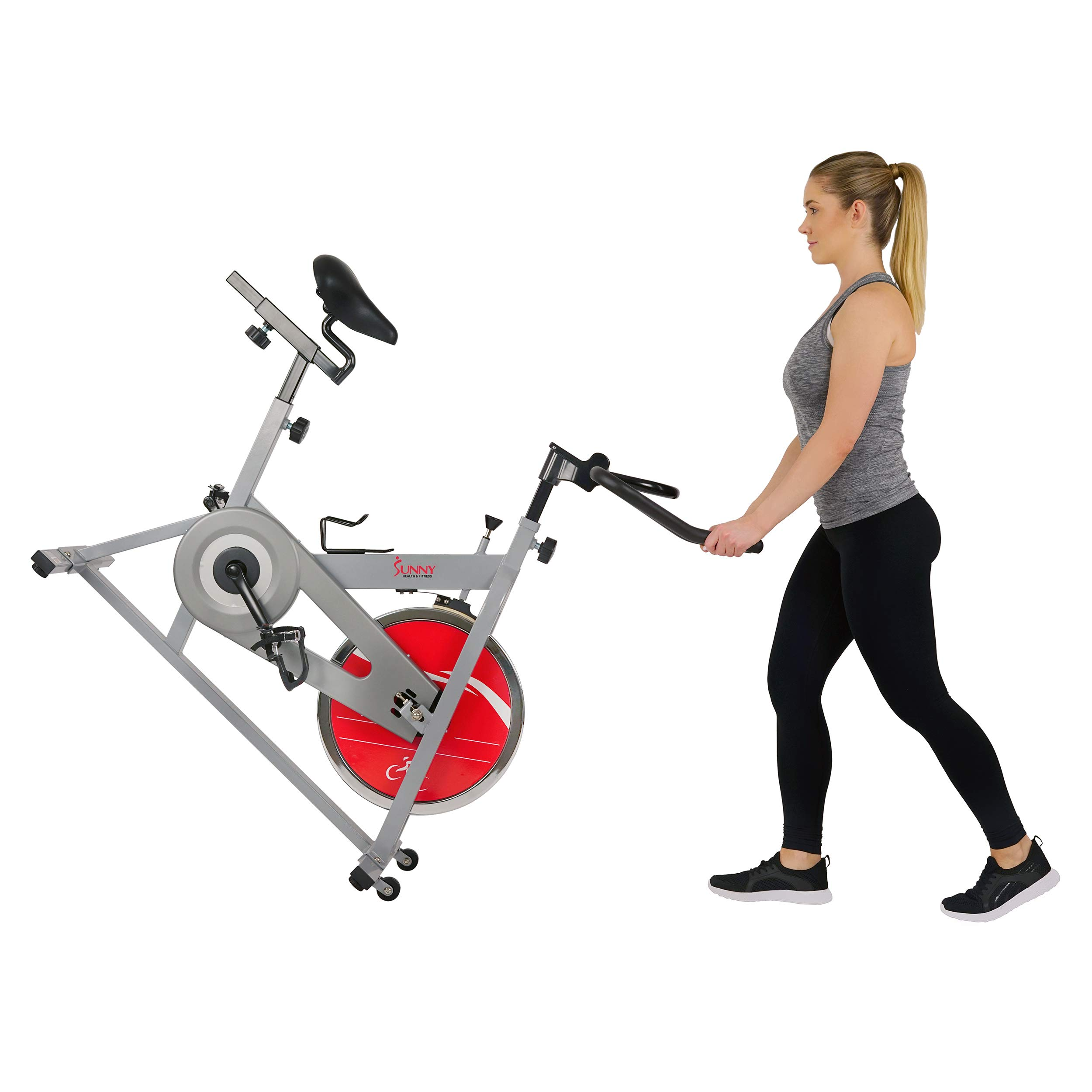 Sunny Health & Fitness SF-B1001S Indoor Cycling Bike, Silver by Sunny Health & Fitness (Image #10)