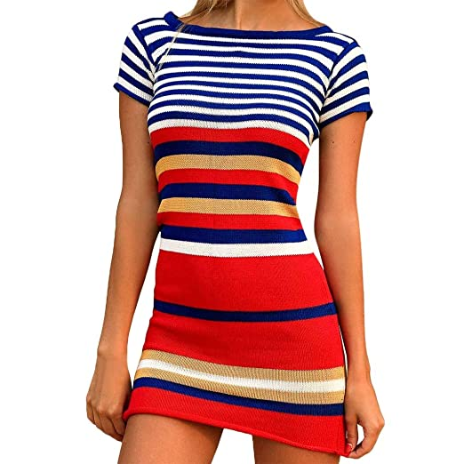 661368bd Womens Cover-Ups GREFER Fashion Women's Knitting Stripe Patchwork Blouse  Tops Bathing Swim Smock Swimsuit at Amazon Women's Clothing store: