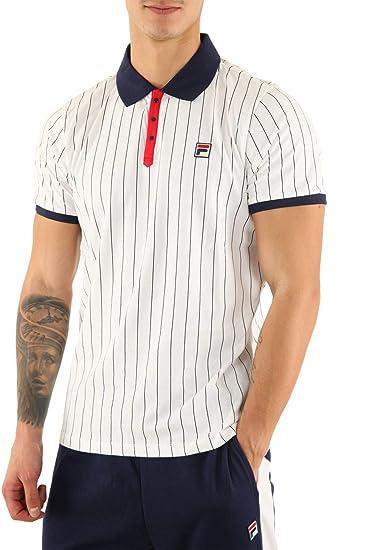 Fila Vintage Settanta Polo Shirt White/Red/Navy: Amazon.es: Ropa y ...
