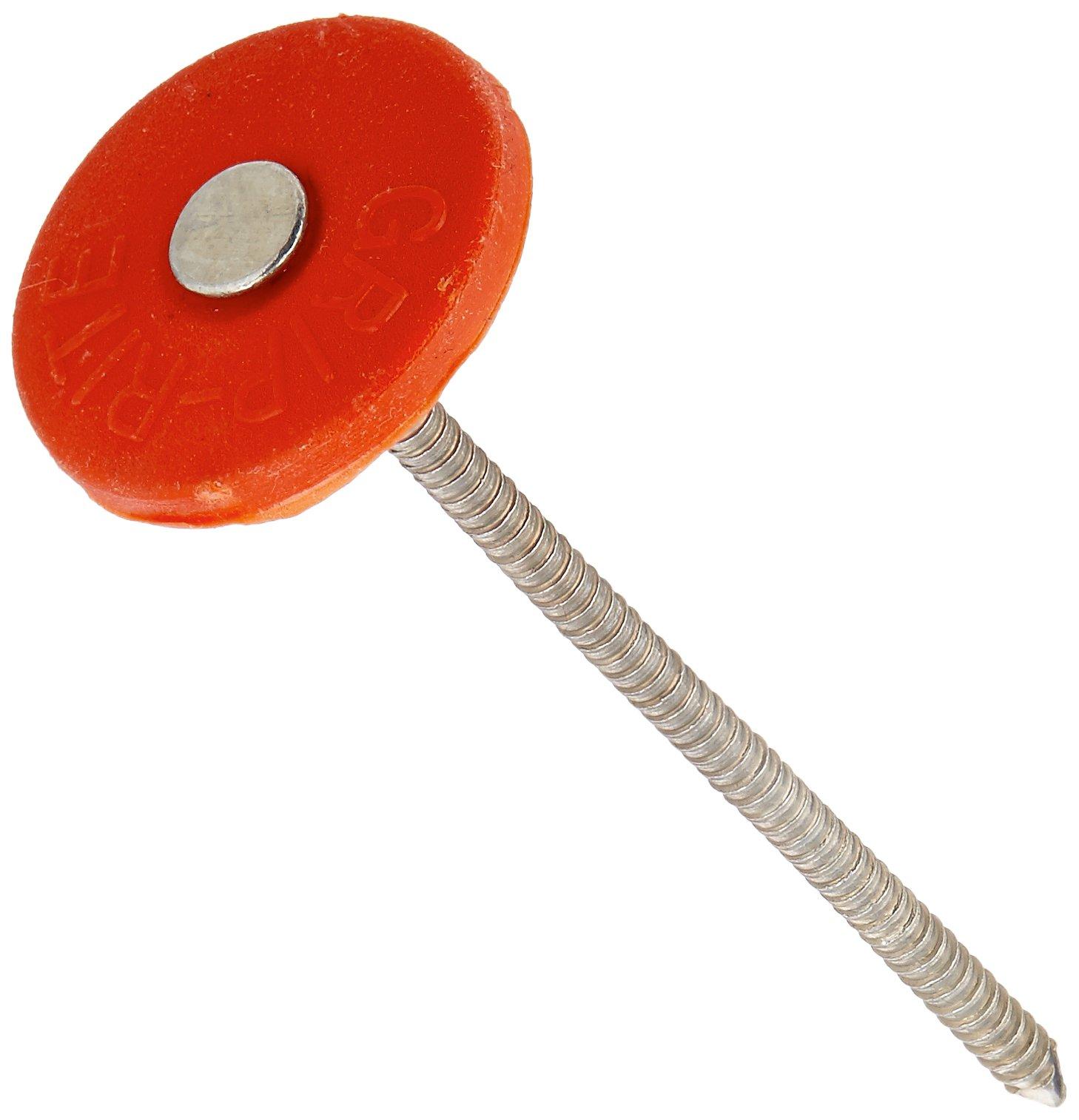 Grip Rite 3PRCAP1 1.150 lb Electro Galvanized Round Plastic Grip-Cap Nail, 3'' by Grip-Rite