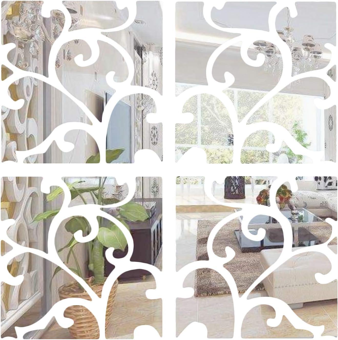 Adesivi Parete Arte Bella 3D Rimovibile Specchio Camera Adesivi Casa di Qualità