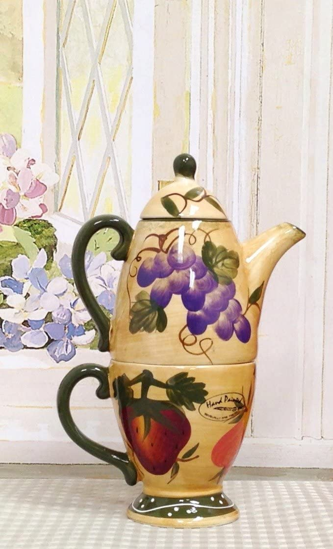 Tuscan Hand-Painted Tea for One Set