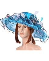 Vbiger Kentucky Derby Hats Church Hat Organza Tea Party Wedding Hat
