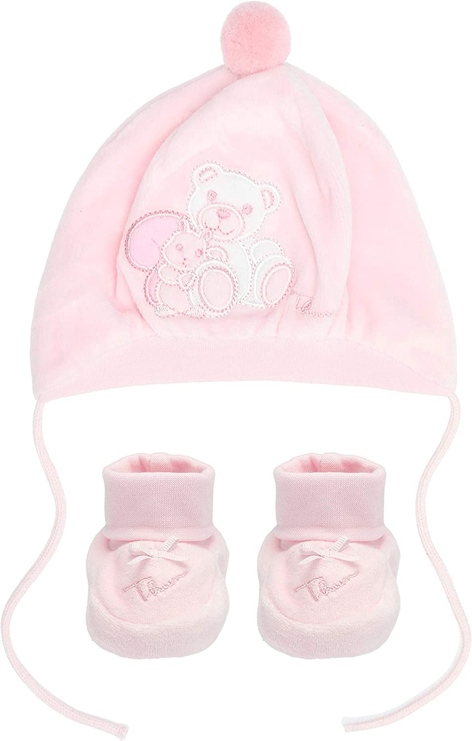 Thun Pink Hat And Shoes Thun Ovs In Chenille Little Friends Amazon Co Uk Baby