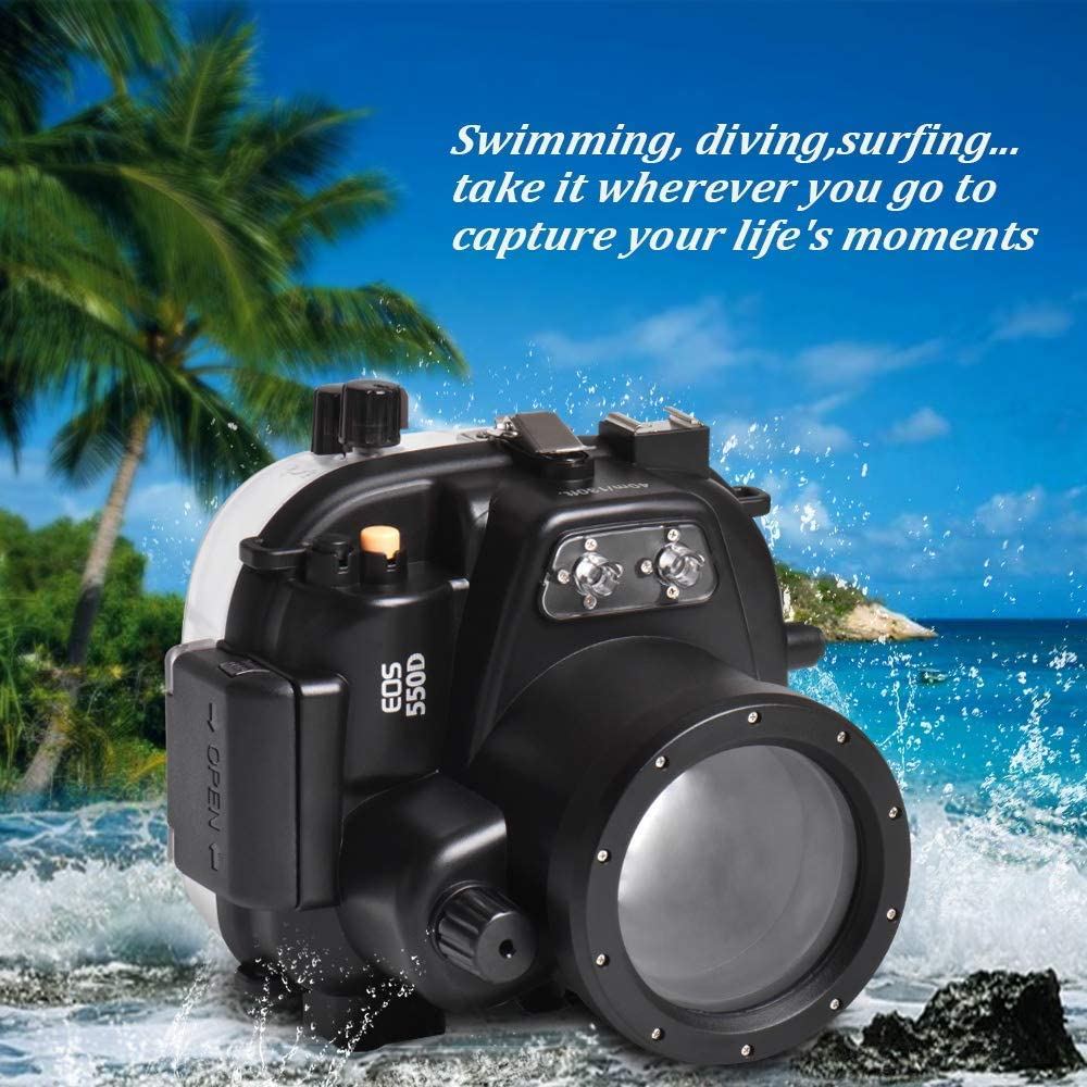Sea Frogs - Carcasa Impermeable para Canon 550D T2i 18-55 mm Lente ...
