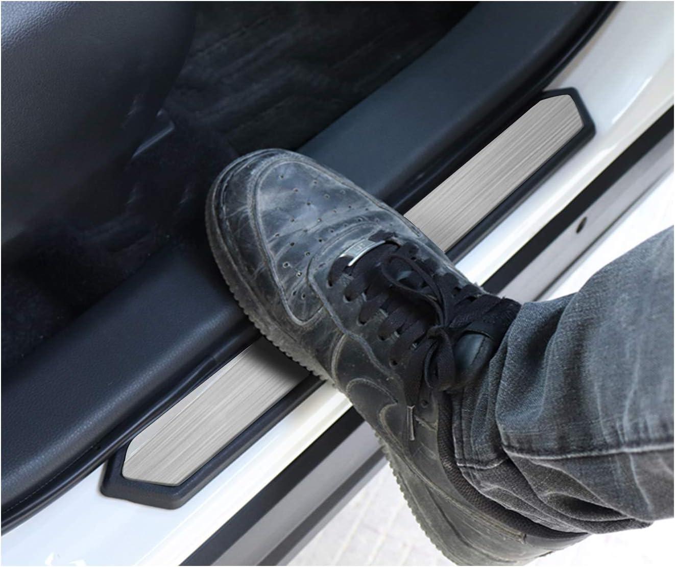 RAV4 Interior Accessories,RAV4 Door Sill Protector Compatible for Toyota Rav4 2019 2020,RAV4 Door Step Plate,RAV4 Protecte Door Entry Paint Off