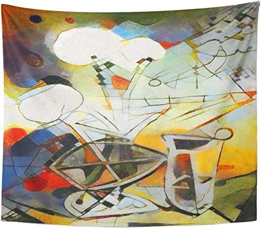 Alternativa Tapestry Reproductions of Famous Paintings by Picasso Applied Abstract Kandinsky Designed in Modern Home Decor Wall Hanging for Living Room Bedroom Dorm 60x80 Inches: Amazon.es: Juguetes y juegos