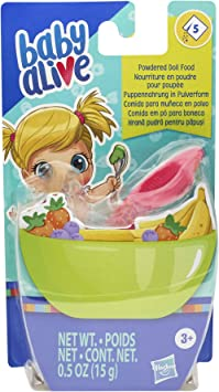 Baby Alive Bambola alimentare in polvere Sacchetti Ricarica per Bambini Bambole Accessori Confezione da 8