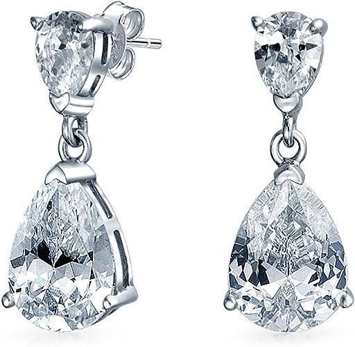 .925 Sterling Silver 10 MM CZ Flower Post Stud Earrings MSRP $63