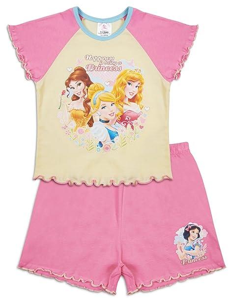 744b9c9c8 Disney Princess Pyjamas Girls Short Cotton Shortie Pyjama Set Pjs (4 ...