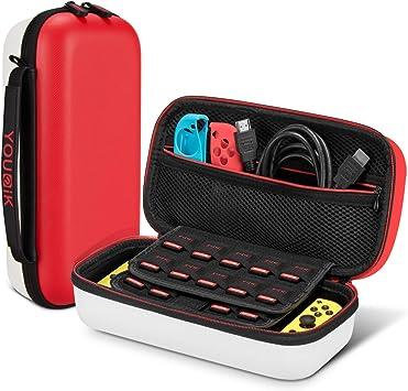 Funda para Nintendo Switch - Younik Versión Mejorada Viaje rígida Case con más Espacio de Almacenamiento para 19 Juegos, Protector Pantalla: Amazon.es: Electrónica