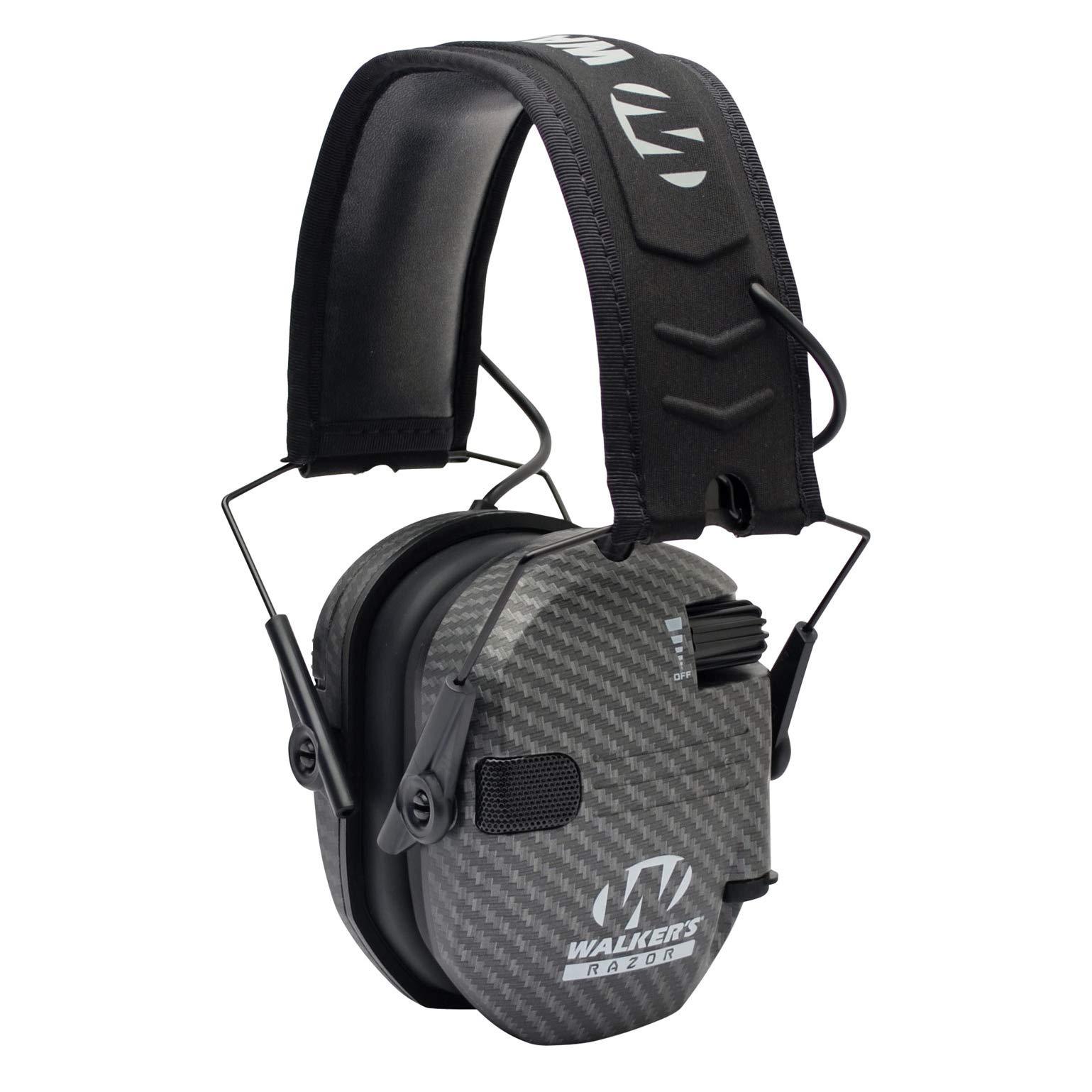 Walkers Game Ear Walker's Razor Slim Electronic Muff - Carbon