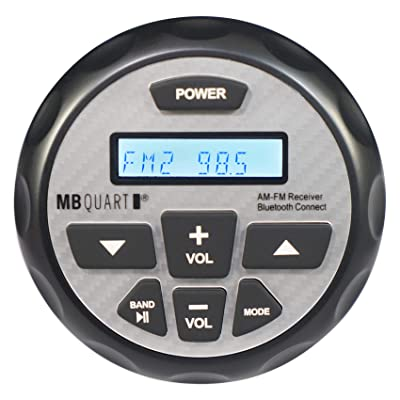 MB Quart GMR-2.5 Waterproof AM/FM Powered Bluetooth Controller with Apple Control: Sports & Outdoors