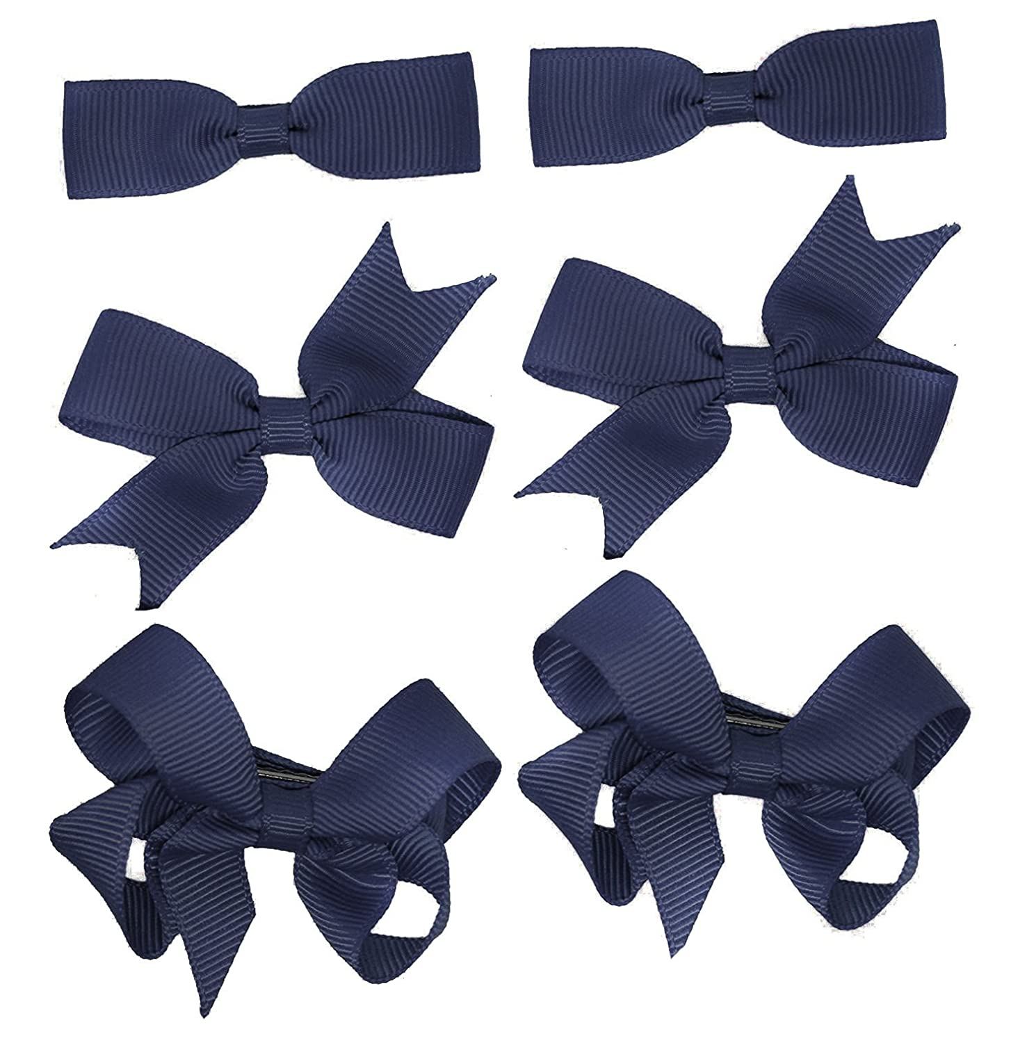 Hilai,10 Pairs 2 Tiny Boutique Grosgrain Ribbon Hair Bow Alligator Clips Barrettes for Baby Girls