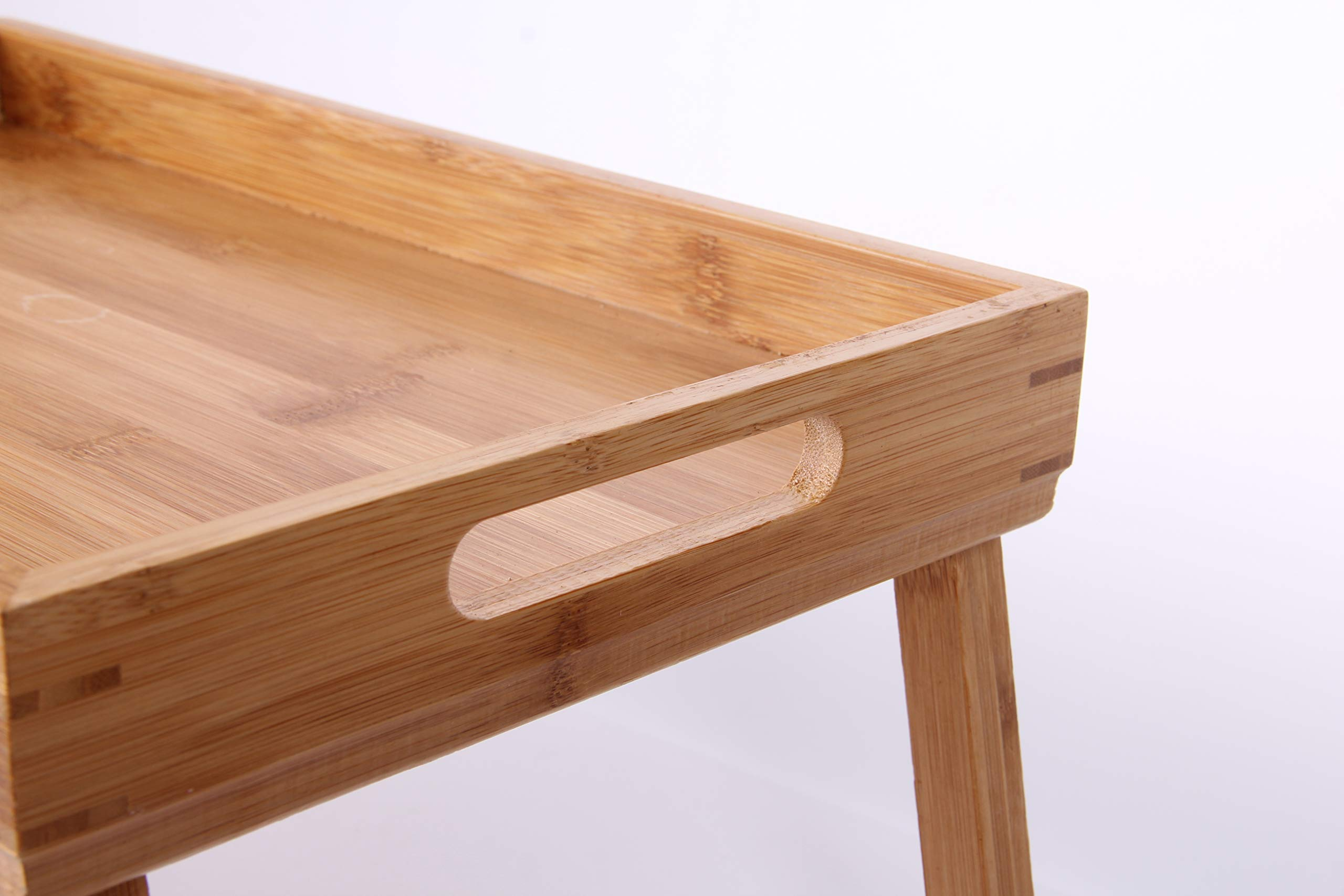 Bamboo Foldable Breakfast Table, Laptop computer tray, Bed Table, Serving Tray