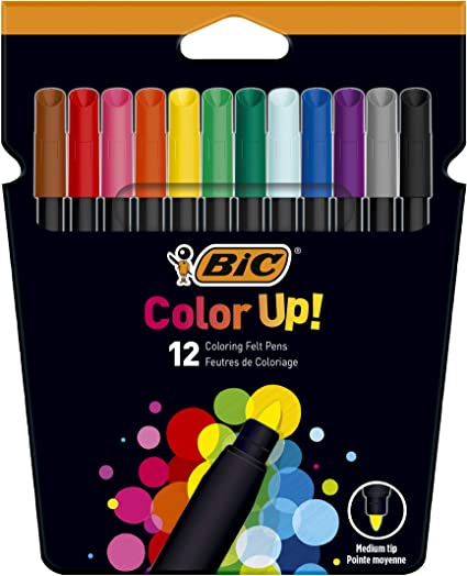 BIC Color Up Rotuladores de Colorear - Colores Surtidos, Pack de ...