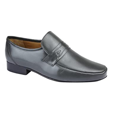 Mens Casual Loafer Shoes (8 US) (Gray)