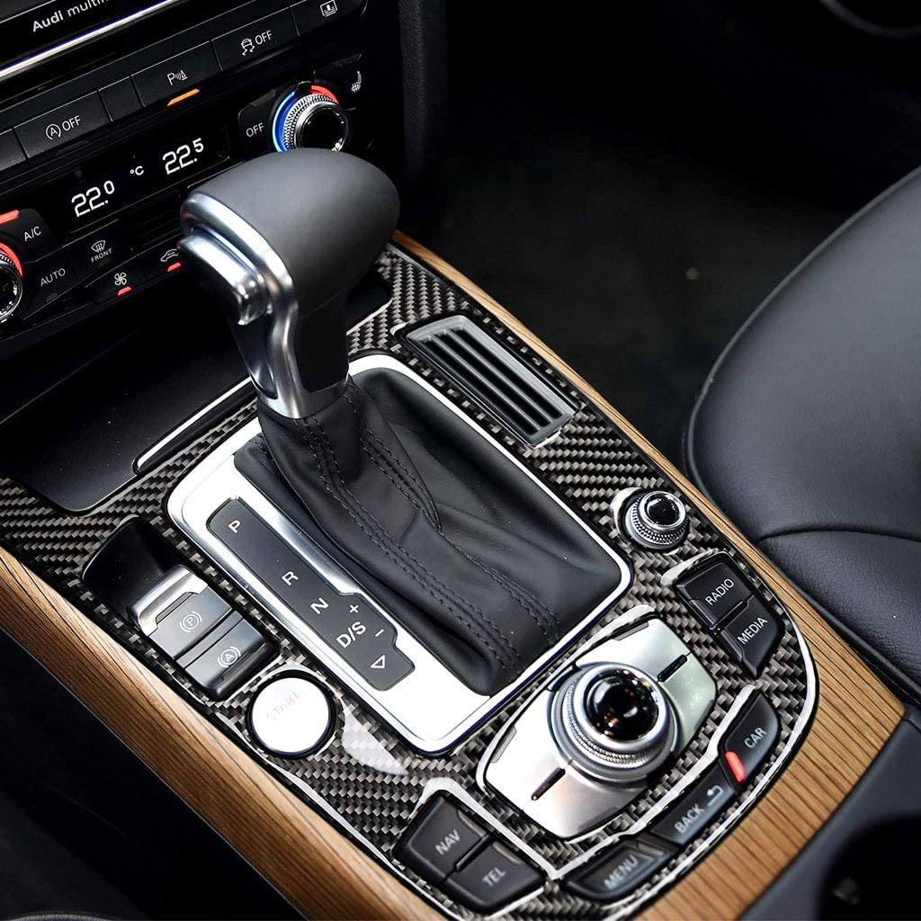 Dashboard Air Conditioner Front Vent Cover Carbon Fiber Interior Decoration Decal Frame Cover Trim SLine Quattro For Audi A4 S4 A5 S5 2009-2016 LHD