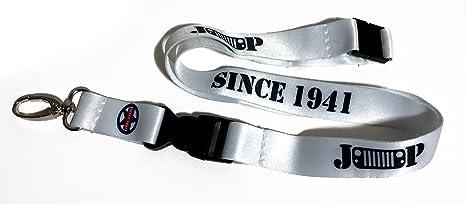 Cordón para llavero de Jeep con texto en inglés «Since 1941»- Colores: