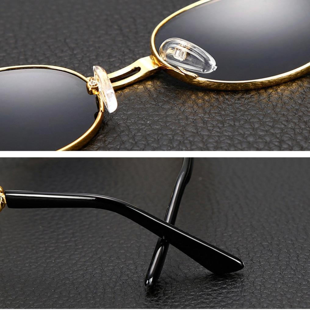 🌻Amlaiworld Mode Oval Metall Rand Rahmen Gläser Strand ...