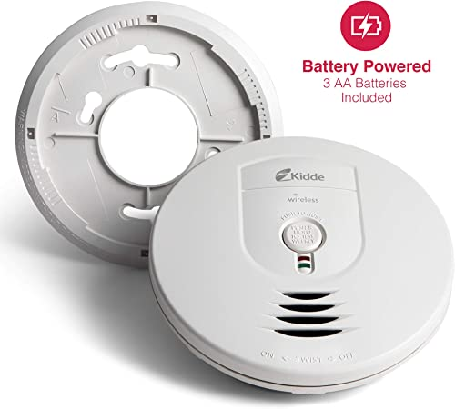 Kidde 21026044 Wireless Interconnect Battery Operated Smoke Detector Alarm