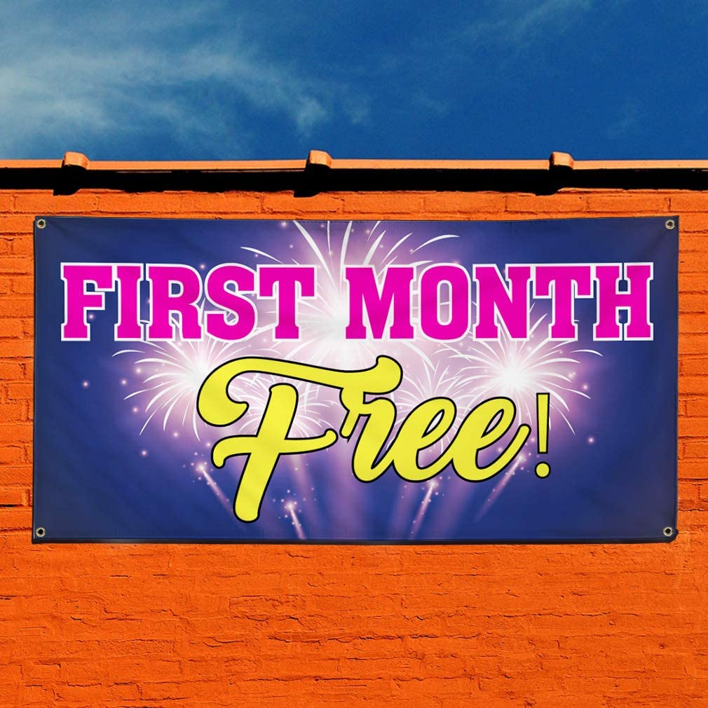 28inx70in Multiple Sizes Available 4 Grommets Set of 2 Vinyl Banner Sign First Month Free #2 Business Banners Marketing Advertising Purple