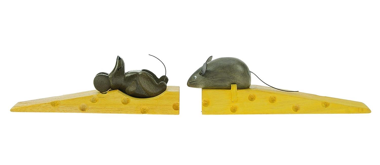 ratones en queso x 2 - tope puerta - figuras decoracion - hecho de ...