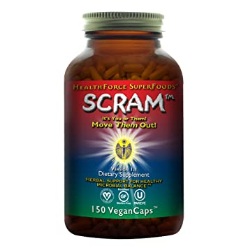 HealthForce SuperFoods Scram - 150 Vegan Capsules - All Natural Internal  Parasite