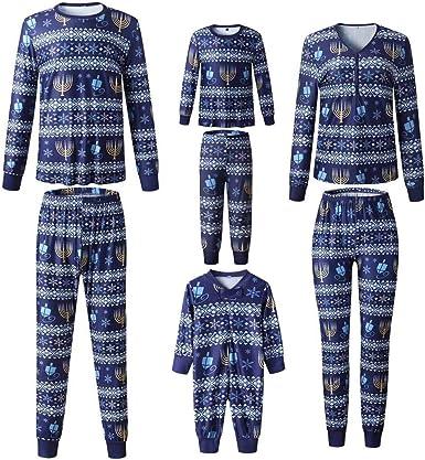 Pijama para familia de Navidad, ropa de noche, ropa navideña ...