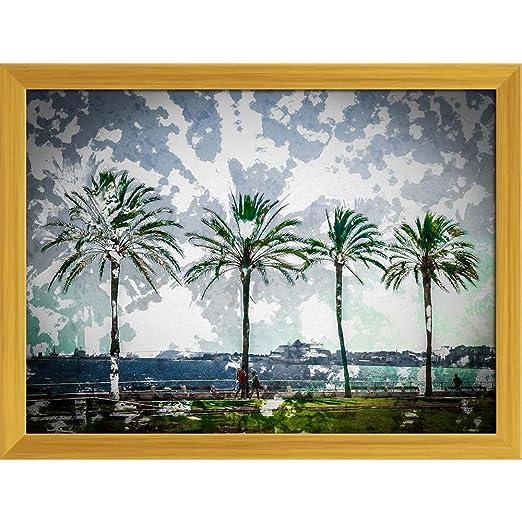 Pitaara Box Palm Trees Along Coast In Palma De Mallorca ...