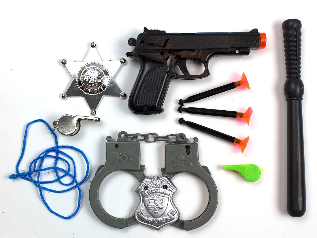 amazon com police dress up costume accessories includes a toy gun