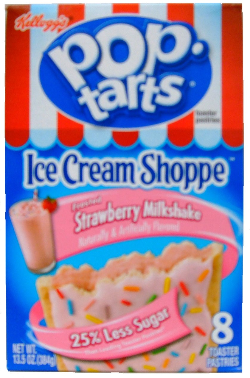 Kellogg's Pop-Tarts Ice Cream Shoppe Frosted Strawberry Milkshake Toaster Pastries 8 ct