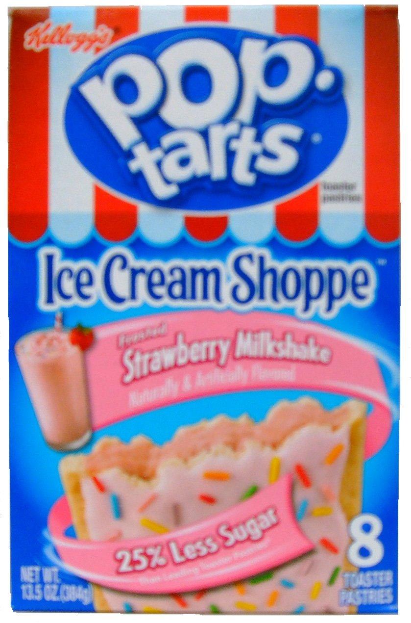Kellogg's Pop-Tarts Ice Cream Shoppe Frosted Strawberry Milkshake Toaster Pastries 8 ct