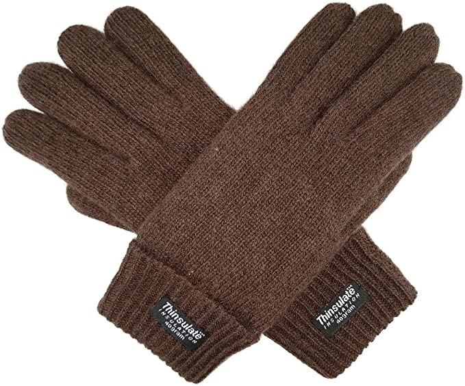 Mens Thermal Thinsulate Fleece Lining Winter Warm Wool Knit Gloves New L//XL Free