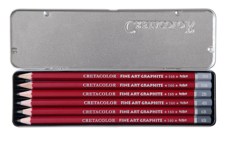 Malstift holzfrei Tuschestift 24 Stifte Contè Buntstifte Set im Metalletui