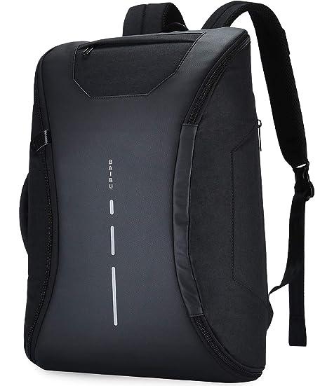 YUGUANG Mochila Hombre Bolsas Impermeable para Portátil y Netbooks de 14 Pulgadas, 180° Abierto
