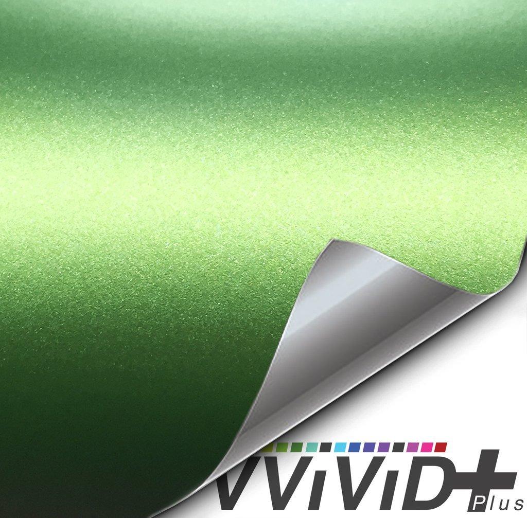 1.5ft x 5ft VViViD+ Matte Metallic Green Vinyl Wrap Roll Ghost