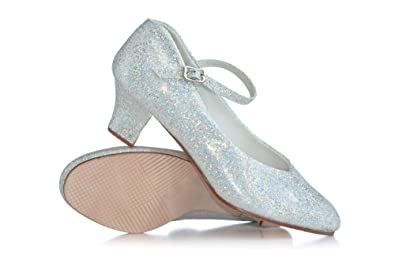 d7b5057fd6e Adult Starlite 1.5 quot  Glitter Character Shoes T3115SIL03.5M Silver ...