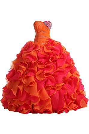 Sunvary 2015 Woman Pleated Ball Gown Prom Evening Dress for Quinceanera- US Size 2-