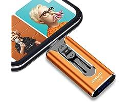 USB 3.0 Flash Drives 512GB, AUAMOZ Memory Drive 512GB Photo Stick Compatible with Smart Phone & Computers, Phone External Fla