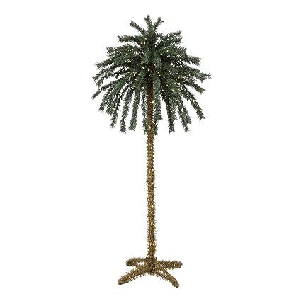 7 Foot Lighted Christmas Palm Tree [#4] - 300 Lights - Indoor / - Amazon.com: 7 Foot Lighted Christmas Palm Tree [#4] - 300 Lights