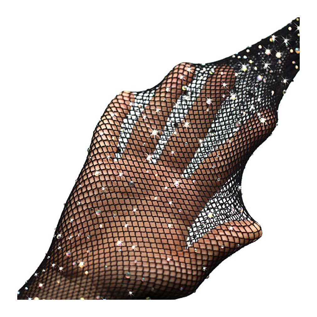 Hot Sexy Fishnet Tights Mesh Pantyhose Shiny Rhinestone Sheer Black Lady Nylon Stockings Fish Net Tights Hosiery Collant For Women