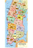 Michelin Official Lower Manhattan NYC Map Art Print Poster 13 x 19in