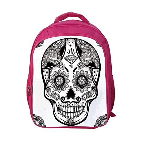 be0bd2a3be11 iPrint School Bags Kid's Backpacks Custom,Day of The Dead Decor,Holiday  Sugar Skull