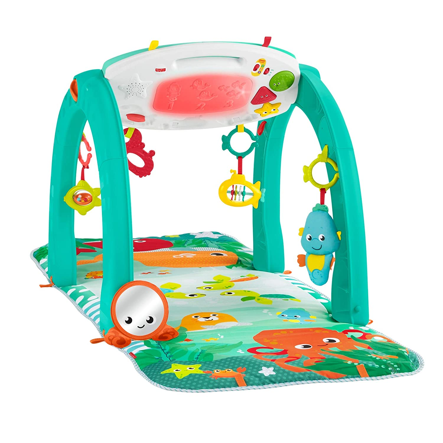 Fisher-Price 4-in-1 Ocean Activity Center, Blue/Green FXT05