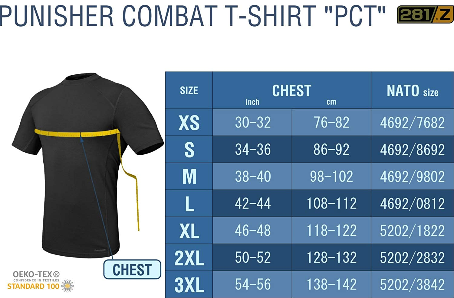 Punisher Combat Line Tactical Hiking Outdoor 281Z Military Stretch Cotton Underwear T-Shirt