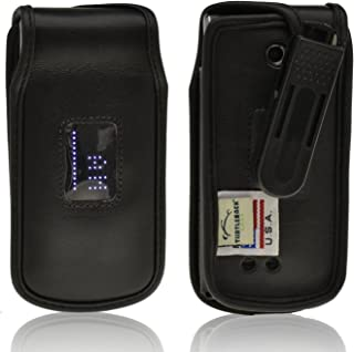product image for Turtleback Fitted Case for LG Exalt VN360 Flip Phone Black Leather Rotating Removable Belt Clip Made in USA