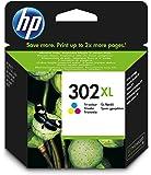 1 x Cartucce inchiostro originali XL F6U67AE HP 302XL HP 302 XL per HP Deskjet 3630 – Colore – Capacità: circa 330 pagine/5%.